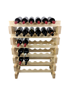 modular stackable wine rack 36 bottles timber wooden wood