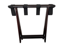 Bamboo Suitcase Stand Luggage Rack mahogany folded
