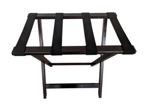 Bamboo Suitcase Stand Luggage Rack mahogany top view