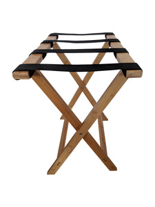 Bamboo Suitcase Stand Luggage Rack Natural Colour - end view