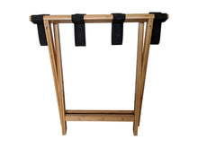 Bamboo Suitcase Stand Luggage Rack Natural Colour - folded