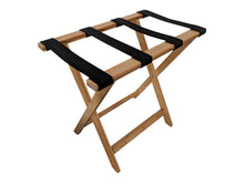 Bamboo Suitcase Stand Luggage Rack Natural Colour left profile