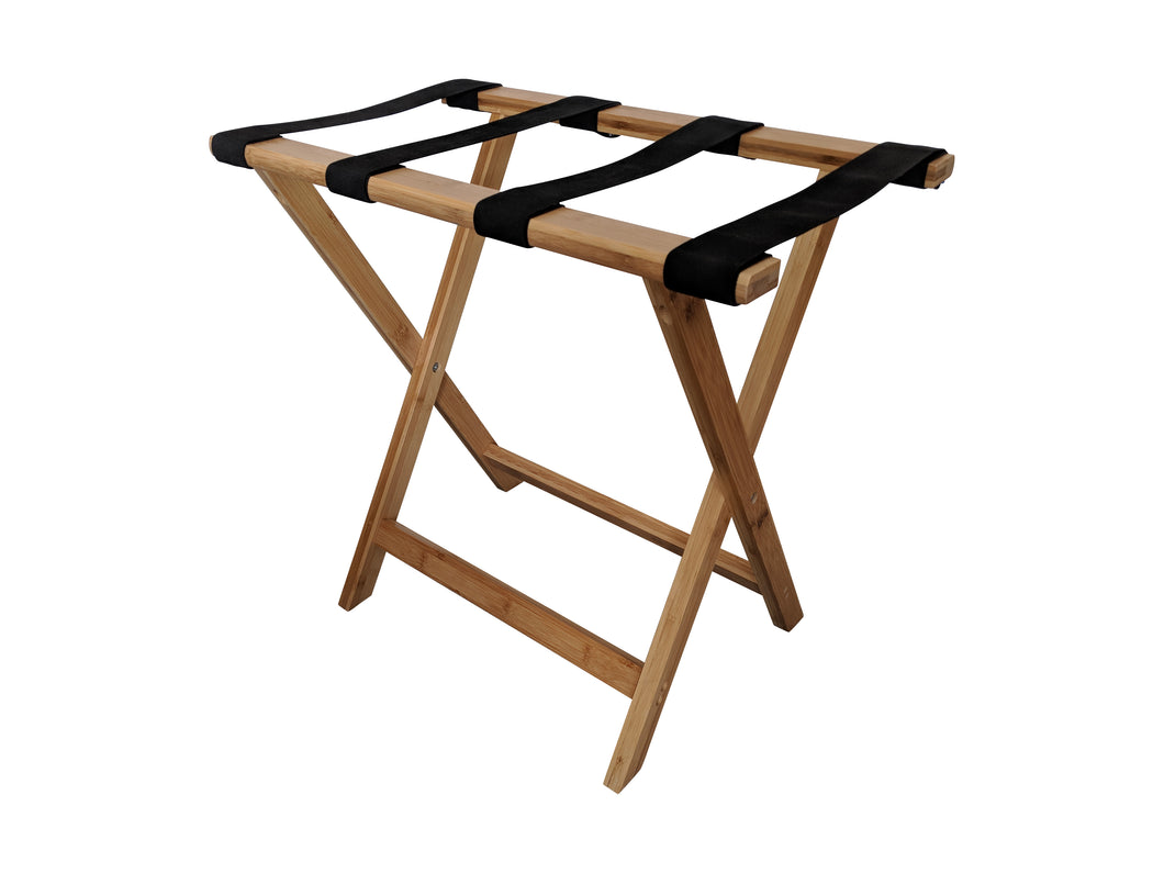Bamboo Suitcase Stand Luggage Rack Natural Colour