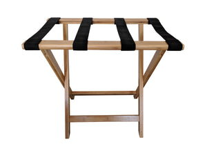 Bamboo Suitcase Stand Luggage Rack Natural Colour - side view