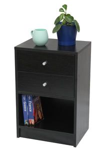 Black Bedside Table - OZ Best Choice Products