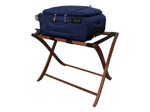 Wood suitcase stand for guest room