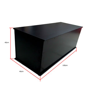Black Blanket Box / Storage Ottoman / Kids Toy Chest / Wood Bench / Wooden Cabinet - OZ Best Choice Products