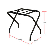 Black Folding Luggage Rack / Suitcase Stand