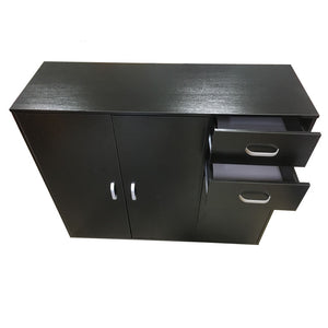 Black Sideboard Buffet Hallway Cabinet - OZ Best Choice Products