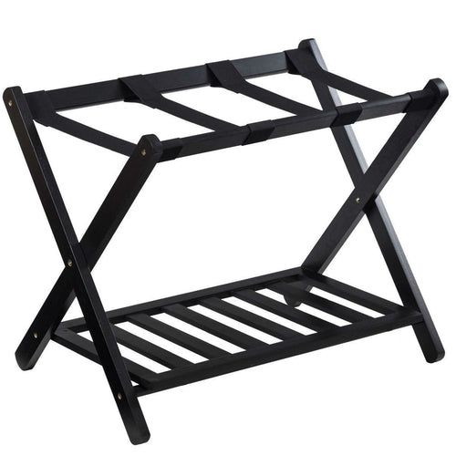 wooden suitcase stand luggage rack