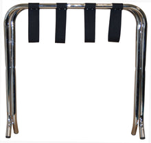 Chrome Folding Luggage Rack / Suitcase Stand - OZ Best Choice Products