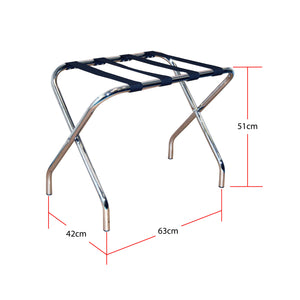 Chrome Folding Luggage Rack / Suitcase Stand
