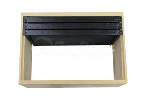Black Plastic Beehive Frames for Beekeeping - Full Depth Langstroth Frames for Deep Hive