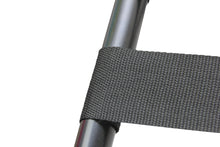 Black Folding Luggage Rack strapping