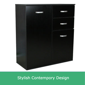 Small Black Sideboard Buffet Cabinet Hallway Dresser Cupboard