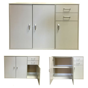 White Sideboard Buffet Hallway Cabinet - OZ Best Choice Products