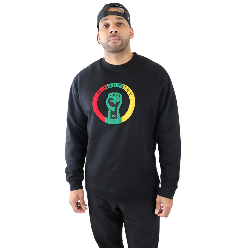 B. History Midweight Crew (3 Color Chenille logo)