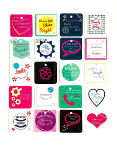 Full Collection of Friendship Notes- 20 Images + 4 heart keychains