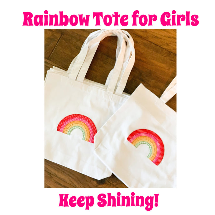 Rainbow Tote For Girls