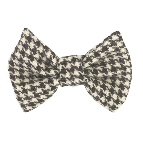 Houndstooth dog bow tie in genuine Scottish Tweed!