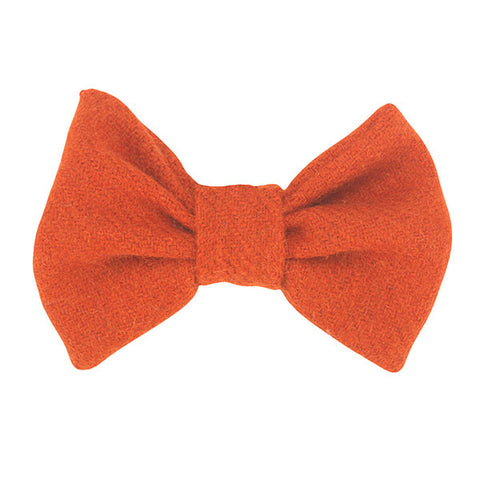 Orange dog bow tie in genine Scottish Tweed!