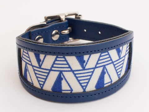 Hound Collar - Geo Blue