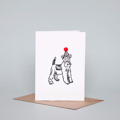 party terrier dog-themed gifcard