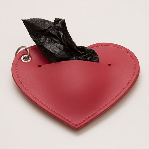 Poop Bag Holder - Red Heart