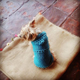 Knit Hoodie - Turquoise