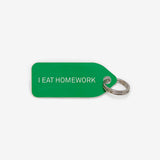 Collar Charm - I eat homework