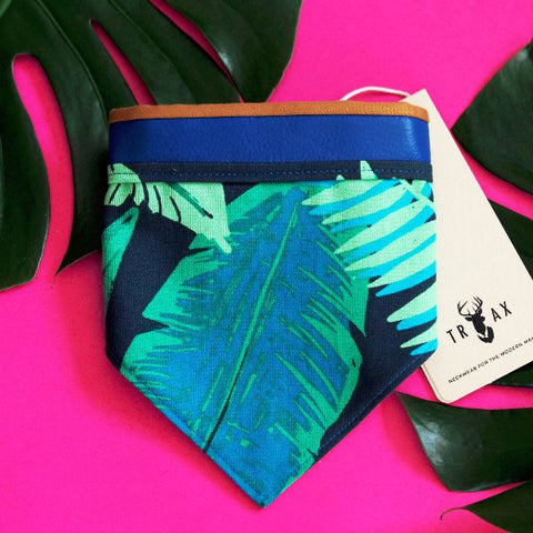 Unique, handmade bandana of high quality in tropical theme.