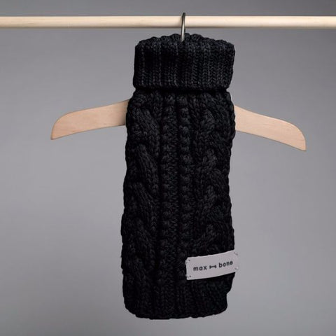 Roll Neck Knit- Noir
