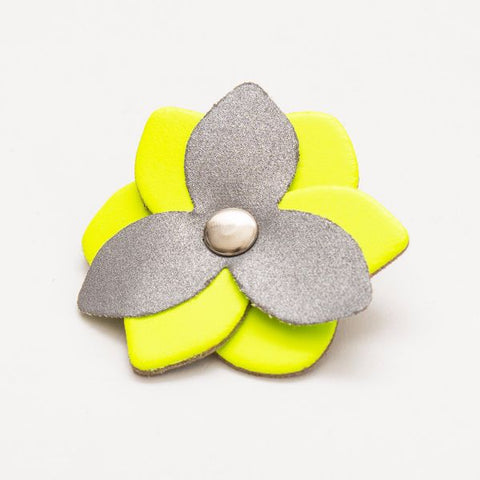 Reflective Flower - Fluro Yellow