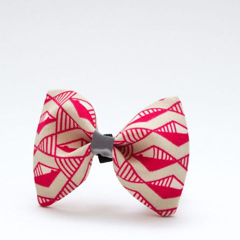 Dog bow tie in fun pink geo print!