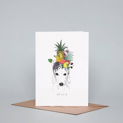 tropical dachshund dog-themed gifcard
