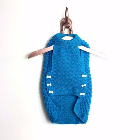 Sweater -  Teal Bobble Knit