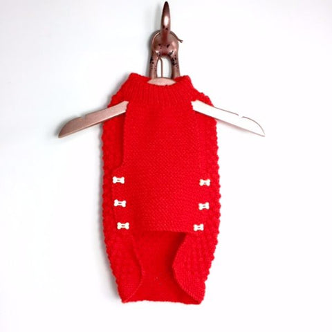 Sweater - Red Bobble Knit