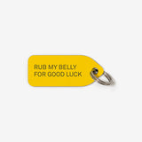 Collar Charm - Rub my belly for good luck