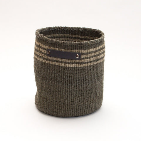 Hand Woven Basket - Small Dark