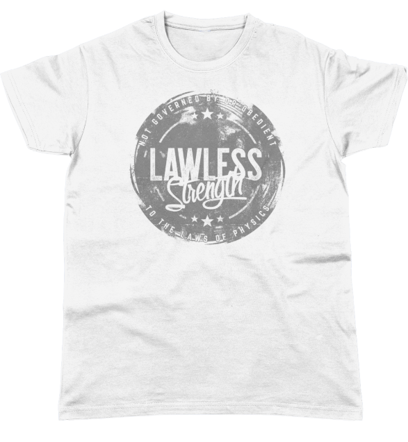Lawless Strength Statement T-Shirt WHITE