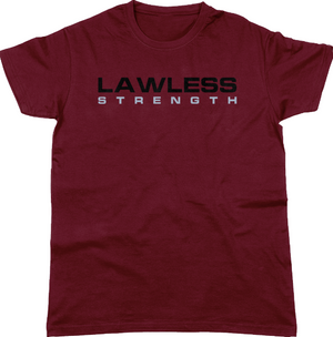 Lawless Strength Logo t-shirt MAROON