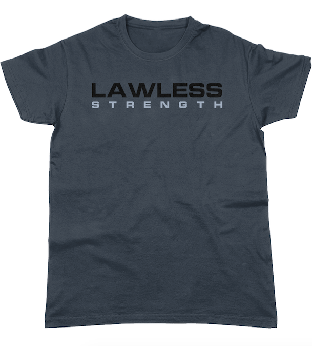 Lawless Strength Logo t-shirt MOUSE GREY