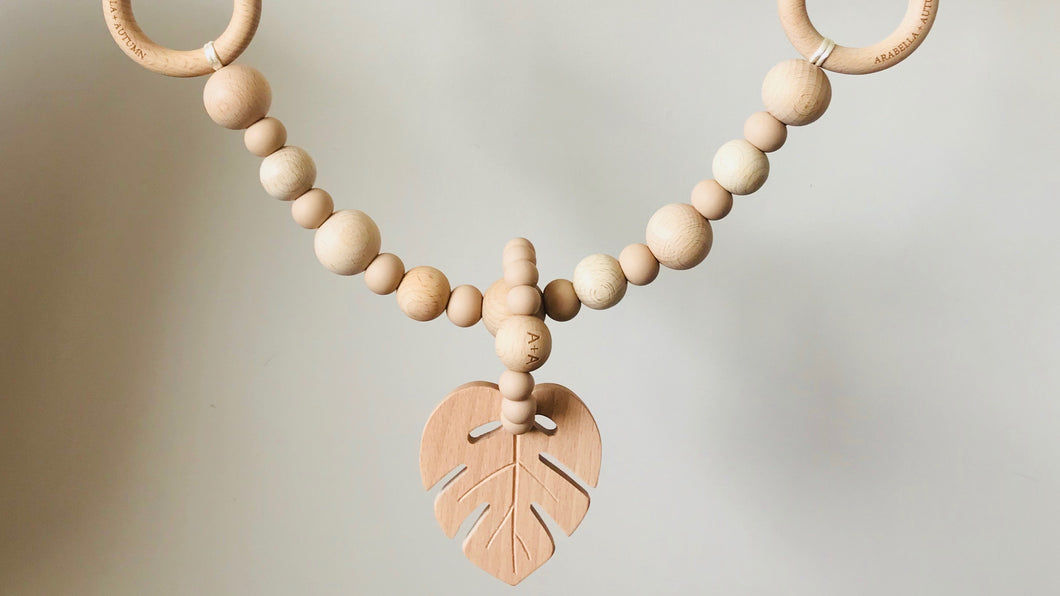 Monstera Leaf Pram Garland