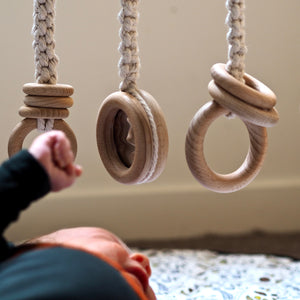 Deluxe Raw Tasmanian Oak Macrame Play Gym Package - TWIN FRAME & MACRAME TOYS