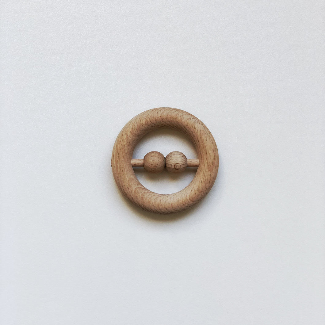 Natural Beech Rattle