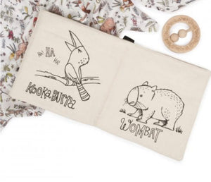 Aussie Animal Fabric Book - Organic Cotton