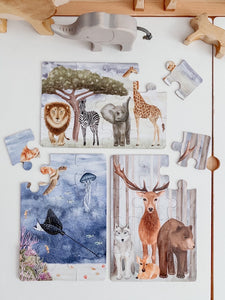 The Majestic Wild Puzzle Collection - a set of 3 puzzles