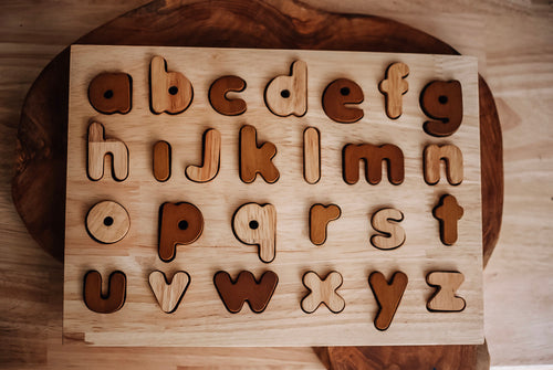 Natural Timber Lowercase Alphabet Puzzle