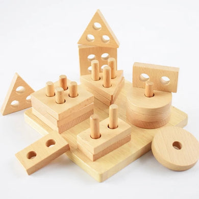Beechwood Shape Stacker (PRE ORDER - Special introductory price)