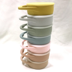 Collapsible Silicone Snack Cup with Lid